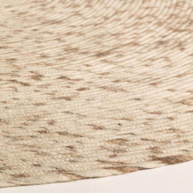 Dehesas - Tapis rond en laine écru