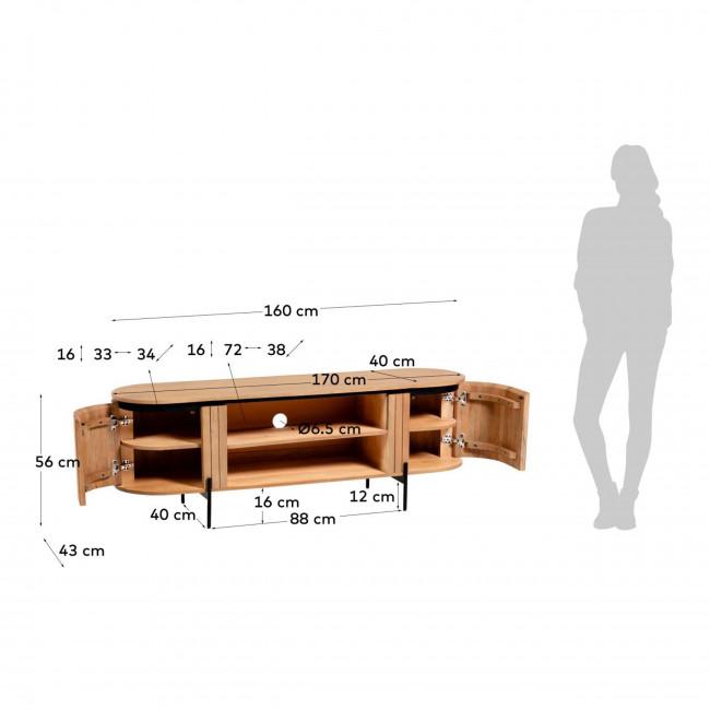 Lafaba - Meuble TV en bois 160x55cm