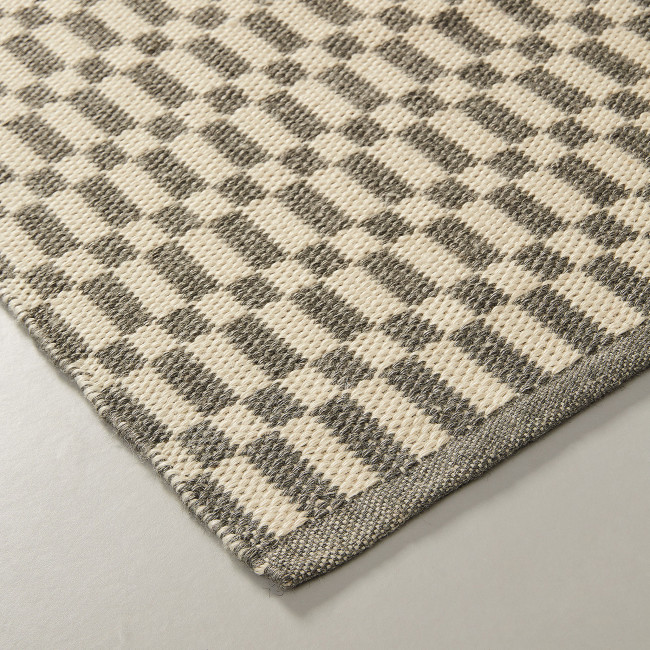 Huelva - Tapis en tissu motif damier