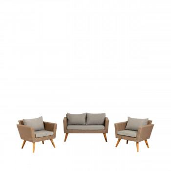Limonar - Salon de jardin 1 canapé et 2 fauteuils