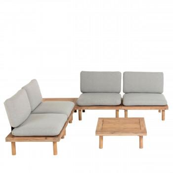 Manacas - Salon de jardin 4 fauteuils et 2 tables basses