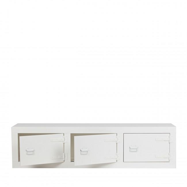 Bunk - Meuble TV/Banc 3 portes en pin massif