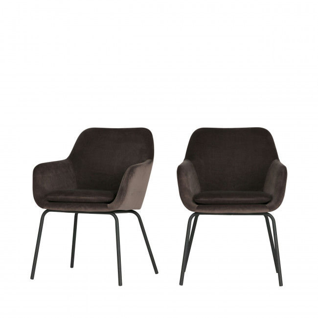 Mood- 2 fauteuils de table en velours