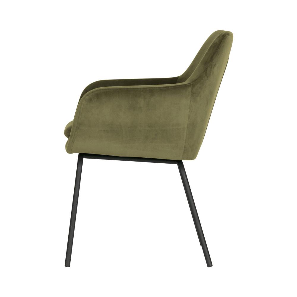 2 fauteuils de table en velours Woood MOOD