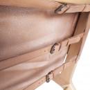 Buckle Up - Fauteuil en cuir et bois