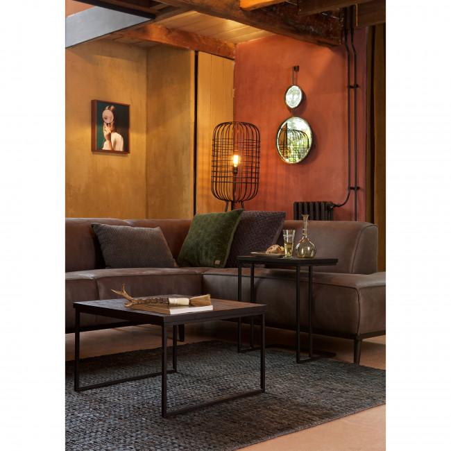 Sharing - Bout de canapé en métal et bois