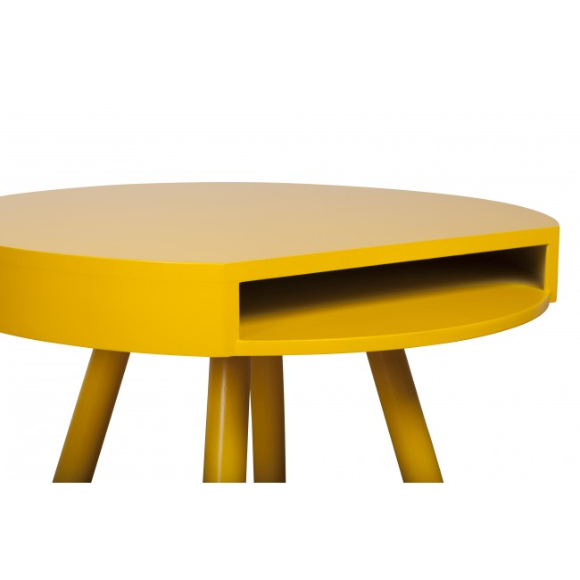 Table d'appoint vide-poche Hide & Seek jaune detail plateau