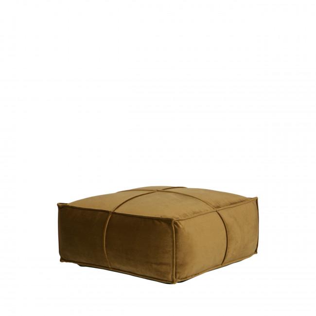 Honey - Pouf en velours carré 60x60