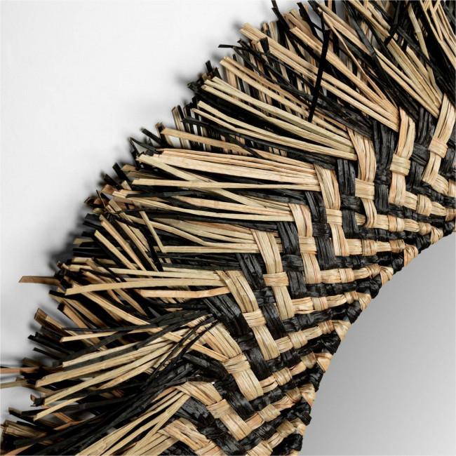 Dehesas - Miroir rond en fibres naturelles Ø60cm