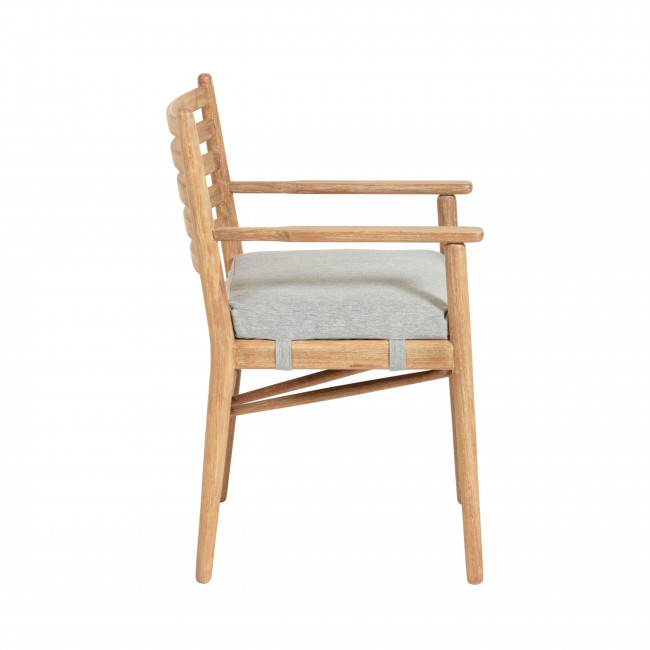 Palmeiro - Chaise en eucalyptus massif et tissu