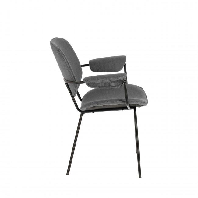 Landrove - 2 chaises en métal et tissu