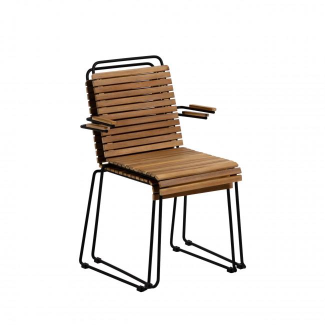 Gulfin - 2 chaises en bois et métal