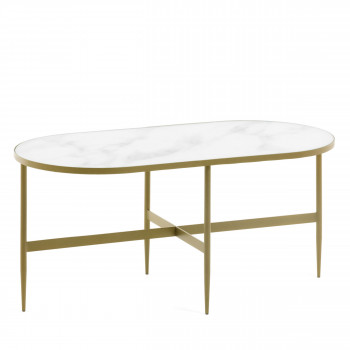 Bergondo - Table d'appoint ovale 100x50cm
