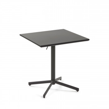 Yinin - Table de bistrot pliable en métal 70x70cm