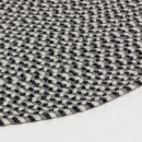 Biduido - Tapis en tissu gris Ø100cm
