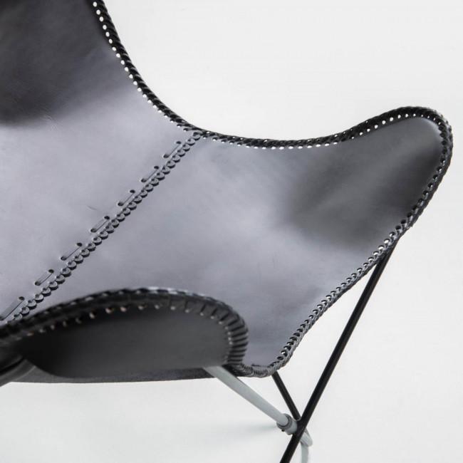 Carnoedo - Fauteuil papillon en cuir