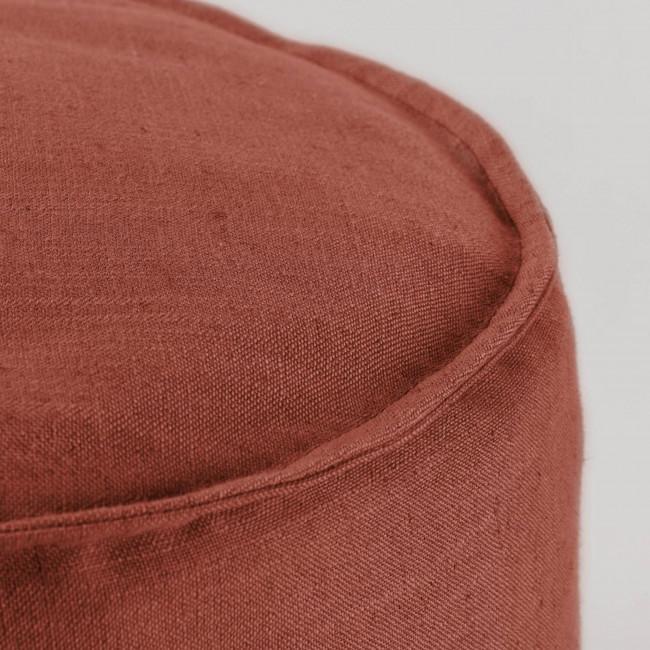 Vacariza - Pouf rond en tissu Ø42cm