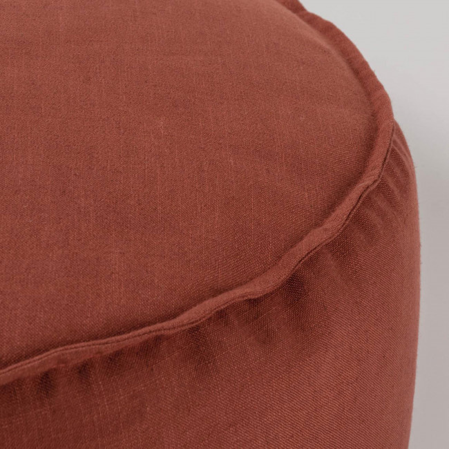 Vacariza - Pouf rond en tissu Ø70 cm