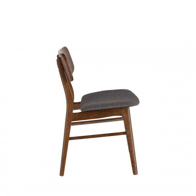 Corocito - 2 chaises en bois et tissu