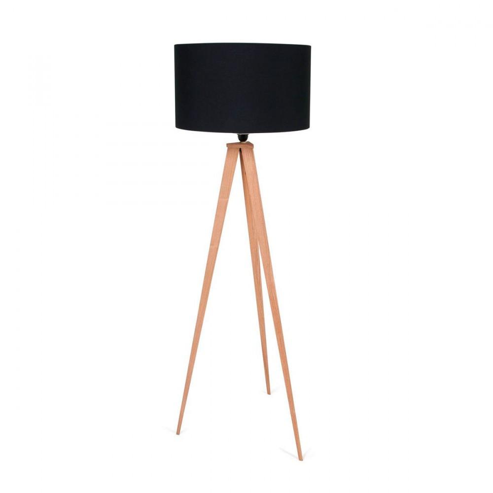 lampadaire design en bois tripod wood zuiver. Black Bedroom Furniture Sets. Home Design Ideas