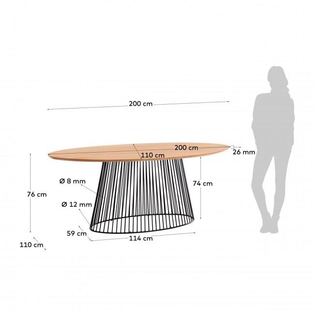 Villariva - Table à manger ovale 200x110cm