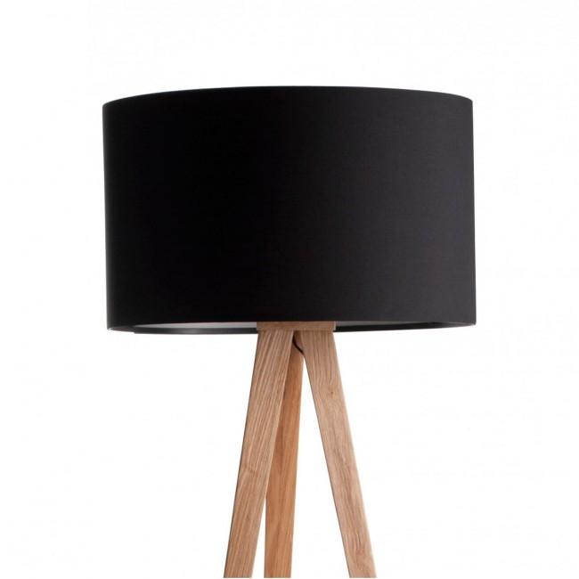Lampadaire Tripod Wood noir detail