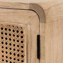 Jarabacoa - Table de chevet en bois et cannage