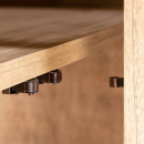 Jarabacoa - Vaisselier en bois et cannage 90x175cm