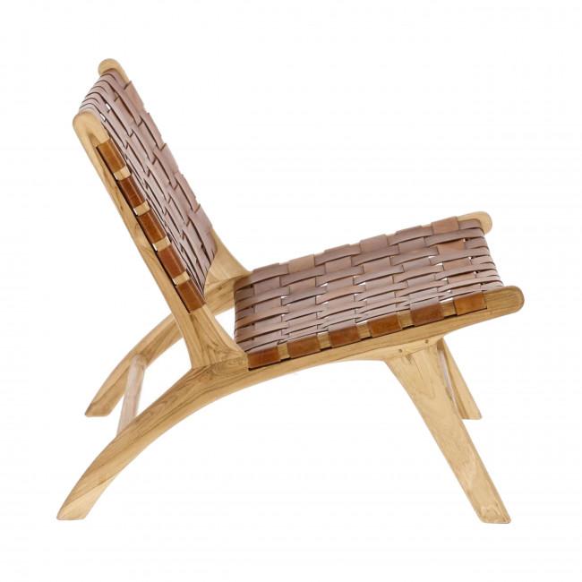 Campechuela - Fauteuil en bois et cuir