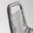 Cacocum - 4 tabourets en métal et corde 74cm