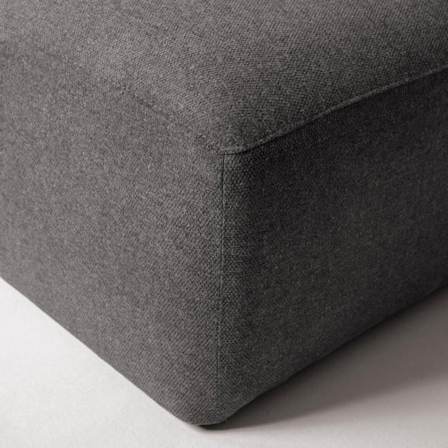 Cayamo - Pouf en tissu 90x70cm
