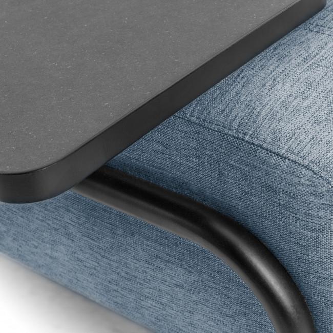 Duabo - Canapé 3 places en tissu avec bout de canapé