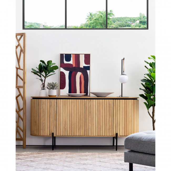 Lafaba - Buffet ovale en bois 170x80cm