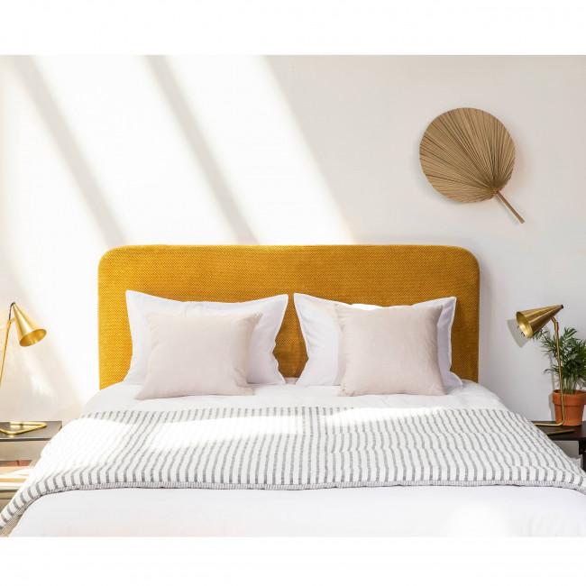 Fleance - Tête de lit en velours nid d'abeille 150cm