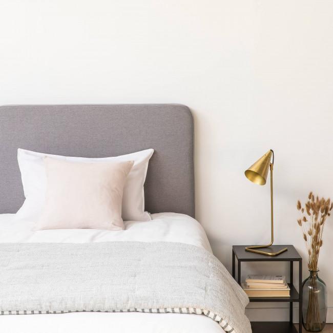 Fleance - Tête de lit en tissu 100cm - Gris clair