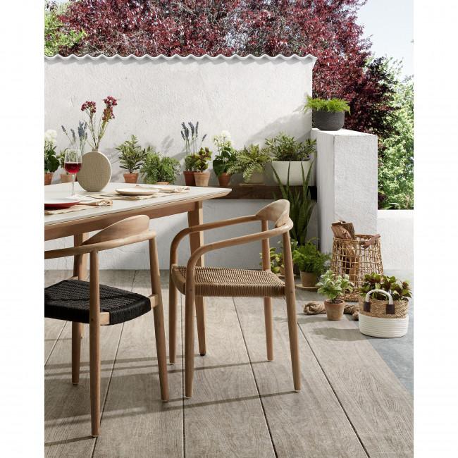 Navalla - Table à manger en bois et béton 160x90cm