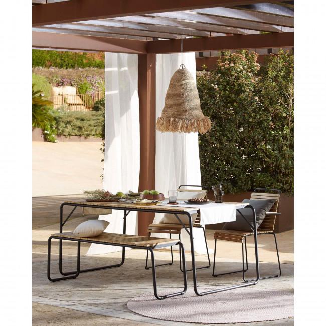 Gulfin - Table à manger en bois et métal 165x90cm