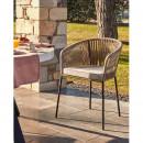 Veguita - 4 chaises en métal et corde