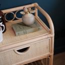 Tondano - Table de chevet en rotin