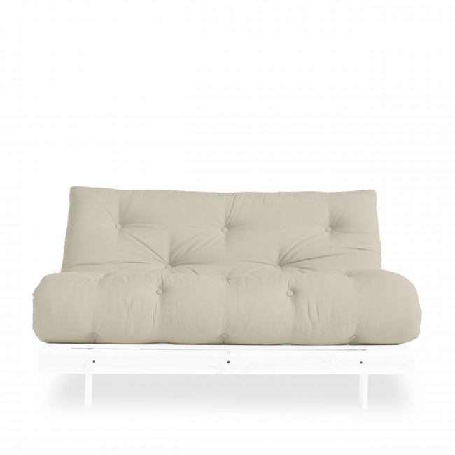 Roots - Canapé convertible en bois blanc et tissu