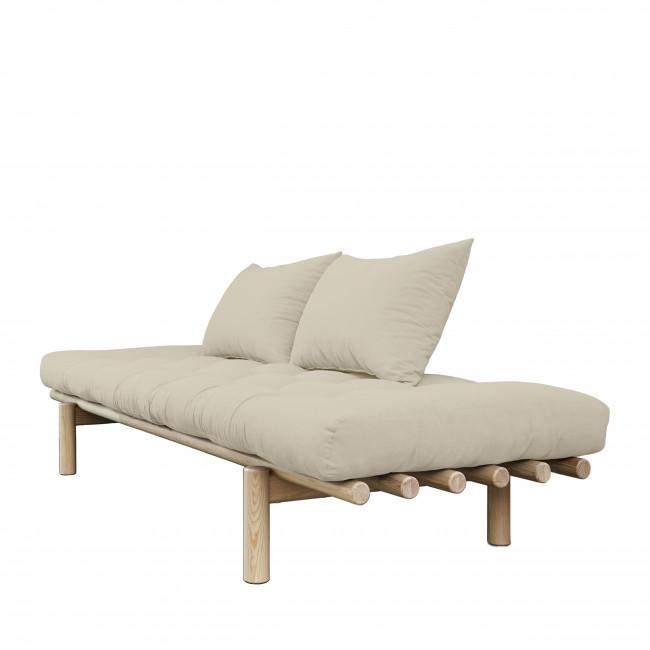 Pace - Daybed en bois naturel et tissu