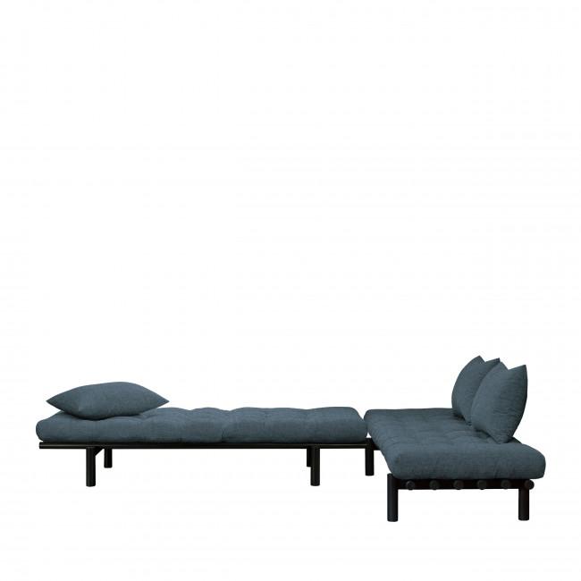 Pace - Daybed en bois noir et tissu