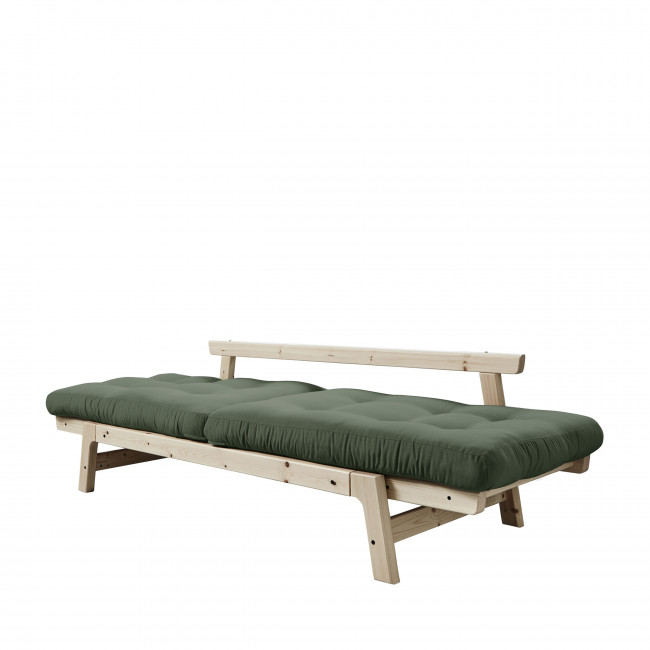 Step - Canapé convertible en bois naturel et tissu