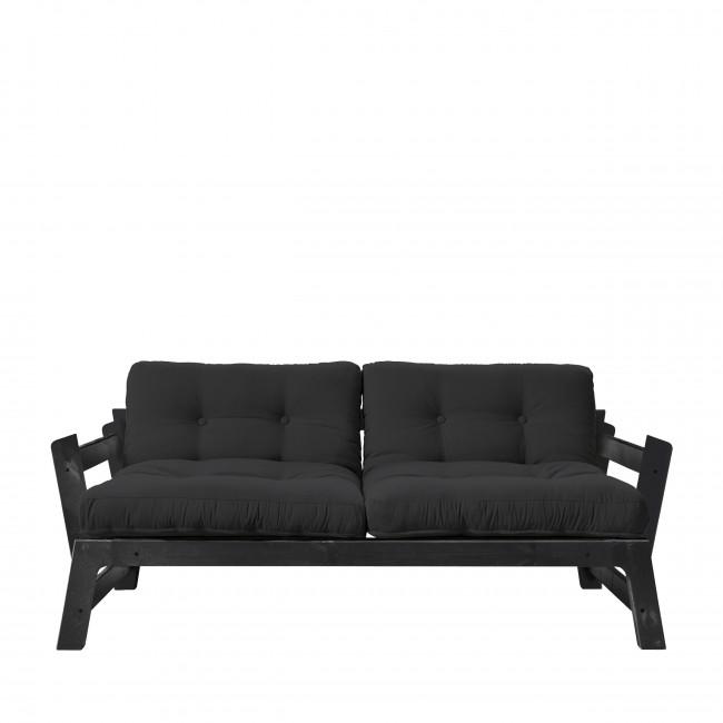 Step - Canapé convertible en bois noir et tissu