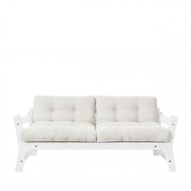 Step - Canapé convertible en bois blanc et tissu