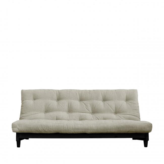 Fresh - Canapé convertible en bois noir et tissu