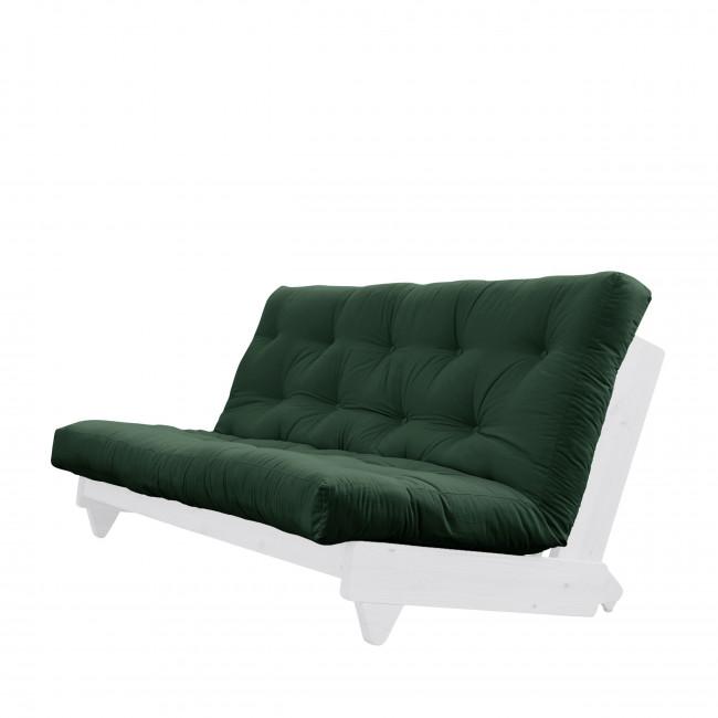 Fresh - Canapé convertible en bois blanc et tissu