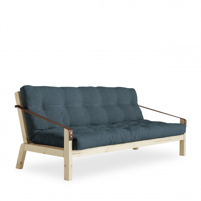 Poetry - Canapé convertible en bois naturel et tissu