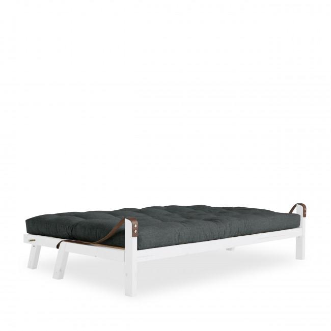 Poetry - Canapé convertible en bois blanc et tissu