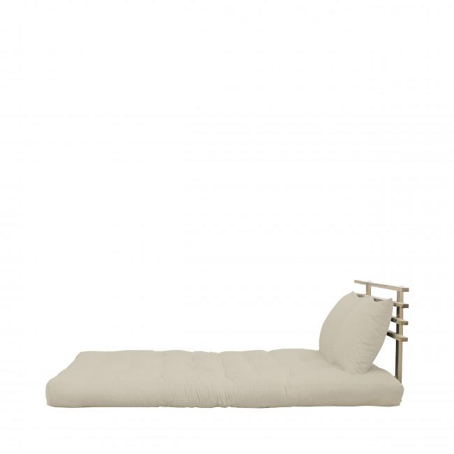 Shin Sano - Canapé convertible en bois naturel et tissu